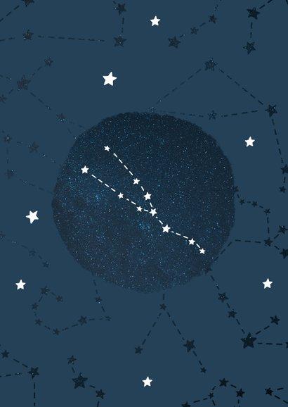 Geboortekaartje sterrenbeeld stier universum 2