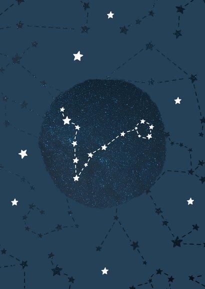 Geboortekaartje sterrenbeeld vissen universum 2