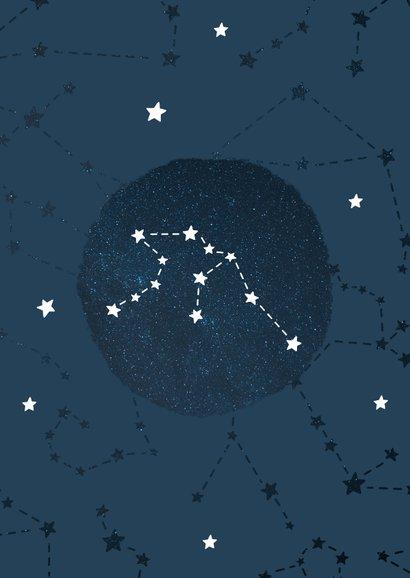 Geboortekaartje sterrenbeeld waterman universum 2
