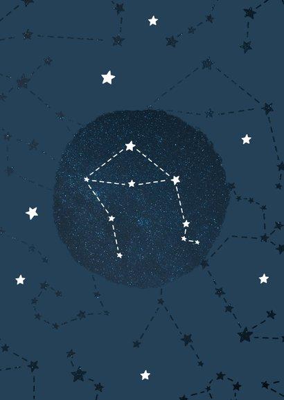 Geboortekaartje sterrenbeeld weegschaal universum 2