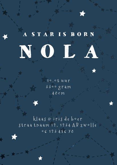 Geboortekaartje sterrenbeeld weegschaal universum 3