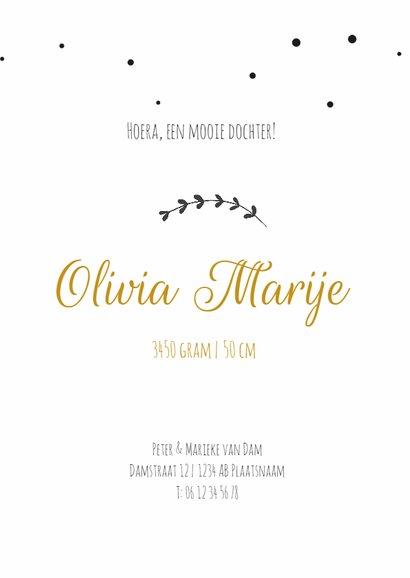 Geboortekaartje takje Olivia 3