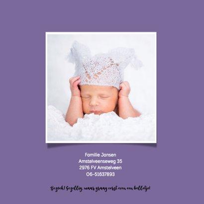 Geboortekaartje tekst en achtergrondkleur aanpasbaar - OT 2