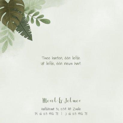 Geboortekaartje tweeling jongetje leeuwtjes jungleblad 2