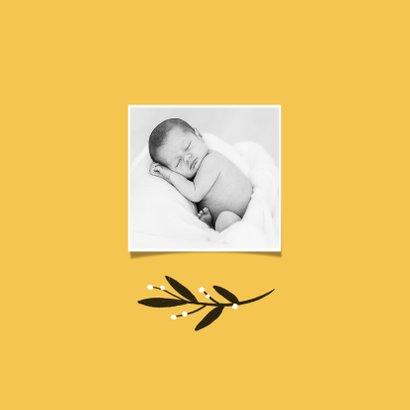 Geboortekaartje unisex okergeel foto 2
