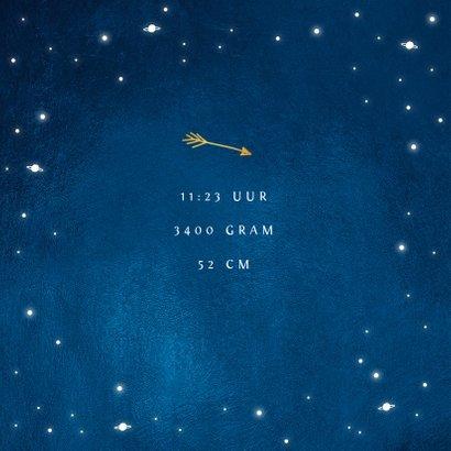 Geboortekaartje universum goud sterren jongen 2