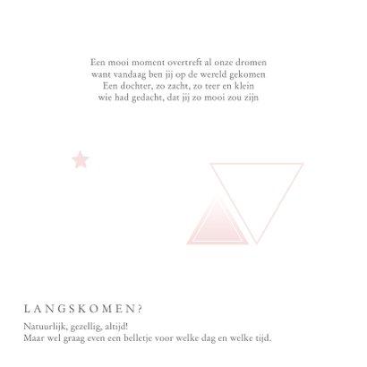 Geboortekaartje voor een meisje met geometrie en sterren 2