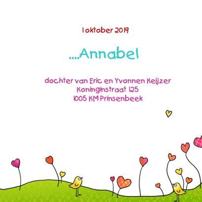 Geboortekaartje voor zusje of broertje 3