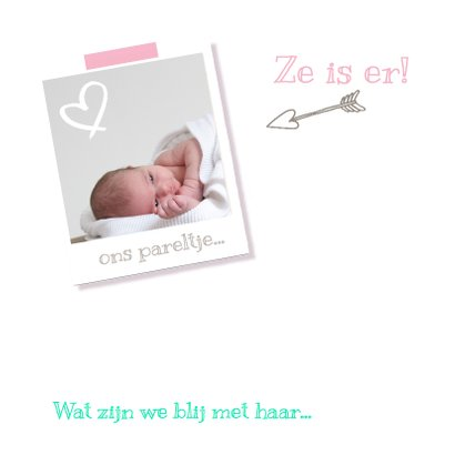 Geboortekaartje vrolijk Sofia 2