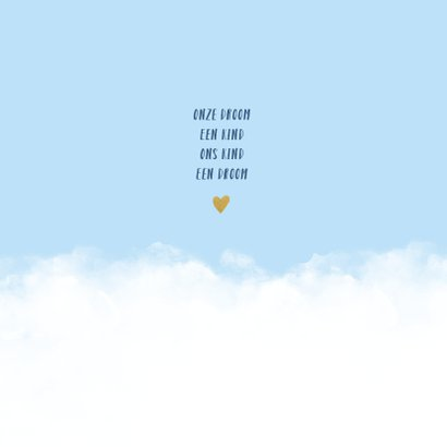 Geboortekaartje wolken hartje jongen 2
