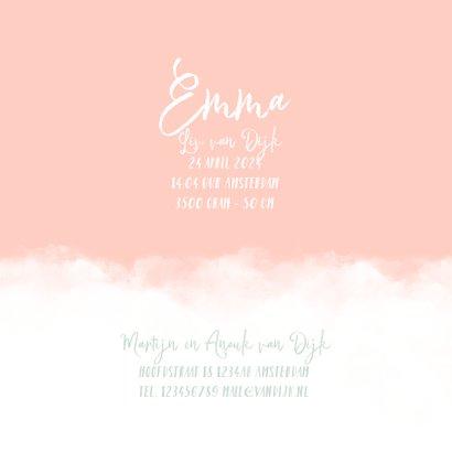 Geboortekaartje wolken hartje meisje 3
