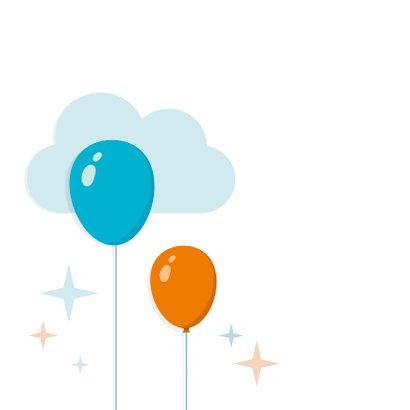Geboortekaartje Zoon Ballonnen Achterkant