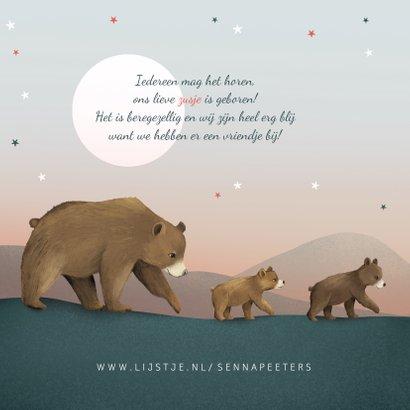 Geboortekaartje zusje sterren beren familie groot gezin 2