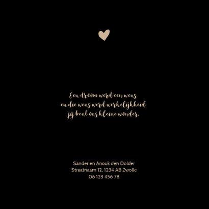 Geboortekaartje zwart panterprint hartje 2