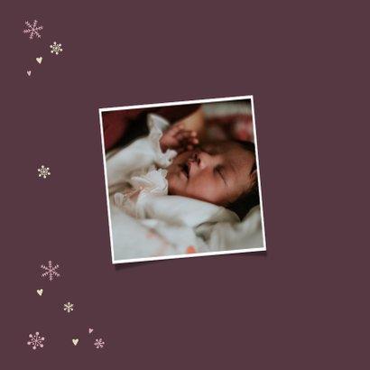 Geboortekaartjes met hartjes en sneeuwvlokjes 2