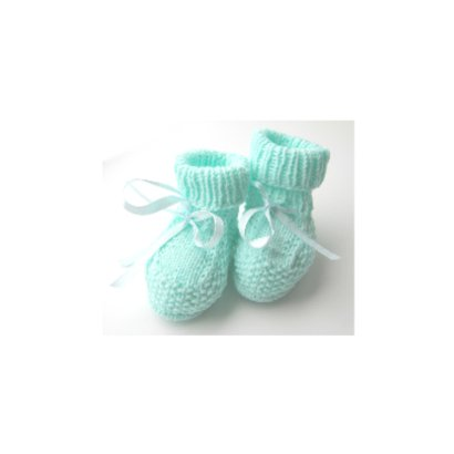 Gebreide schoentjes felicitatie geboorte 2