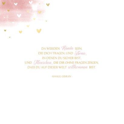 Geburtskarte Aquarell rosa Regenbogen 2