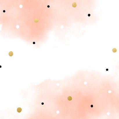 Geburtskarte Drilling rosa mit Konfetti Rückseite