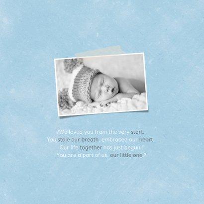 Geburtskarte Elefant mit Luftballon blau Foto innen 2