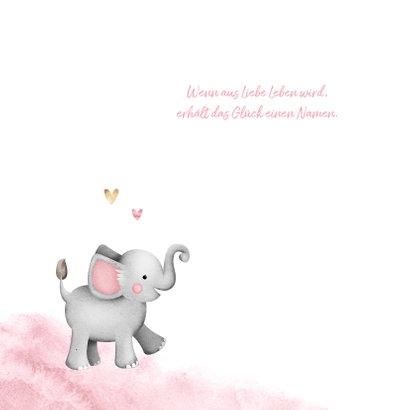 Geburtskarte Elefant Wasserfarbe & Foto 2