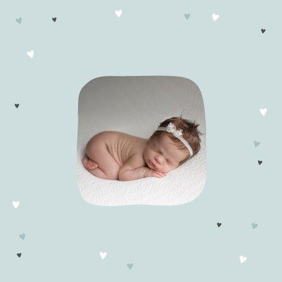 Geburtskarte Ferkel mit Rotkehlchen Foto innen 2