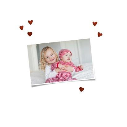 Geburtskarte Fuchs-Geschwister Foto innen 2