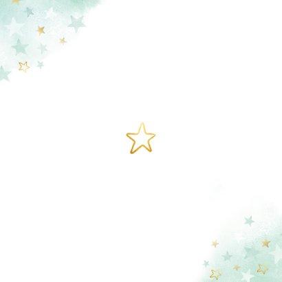 Geburtskarte Große Schwester kleiner Bruder Sterne Rückseite
