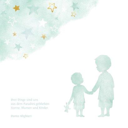 Geburtskarte Großer Bruder kleiner Bruder Sterne 2