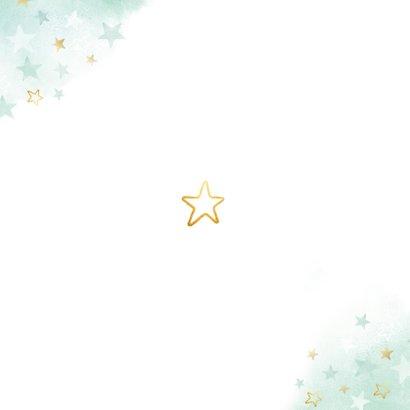 Geburtskarte Großer Bruder kleiner Bruder Sterne Rückseite