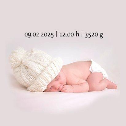 Geburtskarte großes Foto Akzente in Schwarz 2