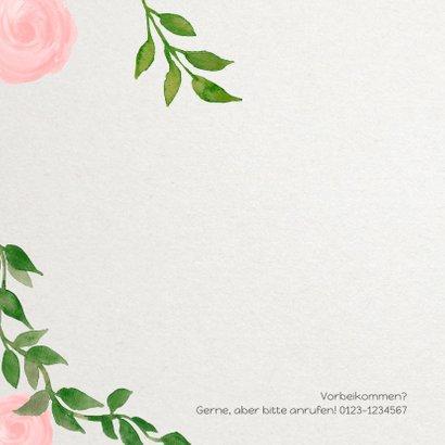 Geburtskarte klassische Rosenranken 2