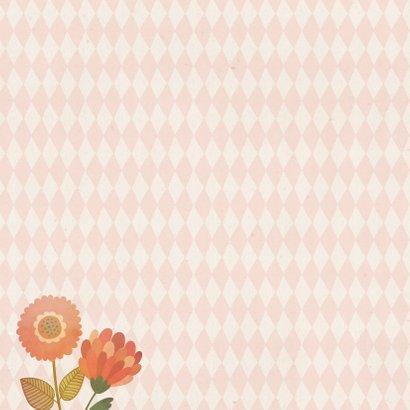Geburtskarte kleine Eule rosa 2