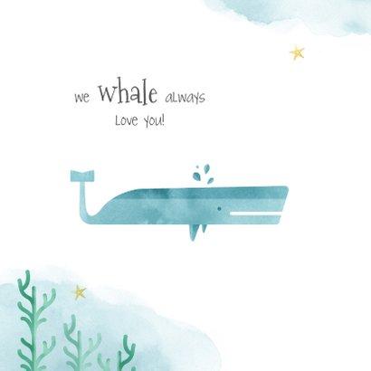 Geburtskarte kleiner Wal in Aquarelloptik 2