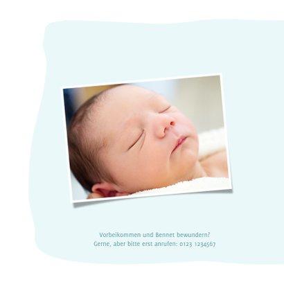 Geburtskarte mit Bär und Seifenblasen Foto innen 2