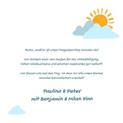 """Geburtskarte mit Foto """"Unser Sonnenschein"""" 3"""