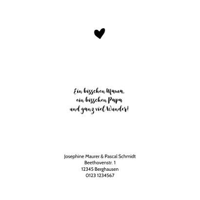 Geburtskarte mit Herz aus Leopardenprint 2