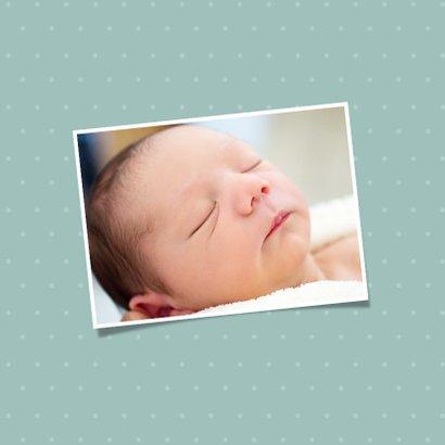 Geburtskarte mit kleinem Bär und Foto innen 2