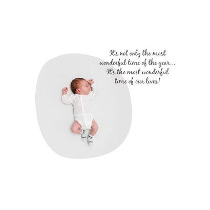 Geburtskarte mit Tannenbäumen Foto innen 2