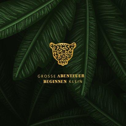 Geburtskarte Panther Goldlook und Dschungel 2
