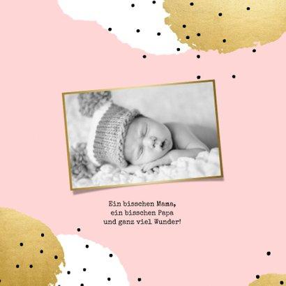 Geburtskarte Punkte mit Foto innen 2
