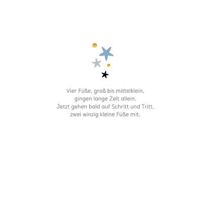 Geburtskarte schlicht Namen & Sterne 2