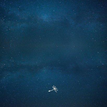Geburtskarte Silhouette Junge, Mond & Sternenhimmel Rückseite