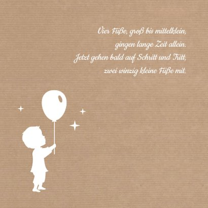 Geburtskarte Silhouette Kraftpapier Junge 2