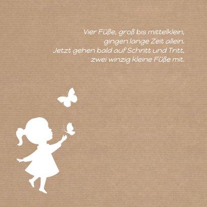 Geburtskarte Silhouette Kraftpapier Mädchen 2