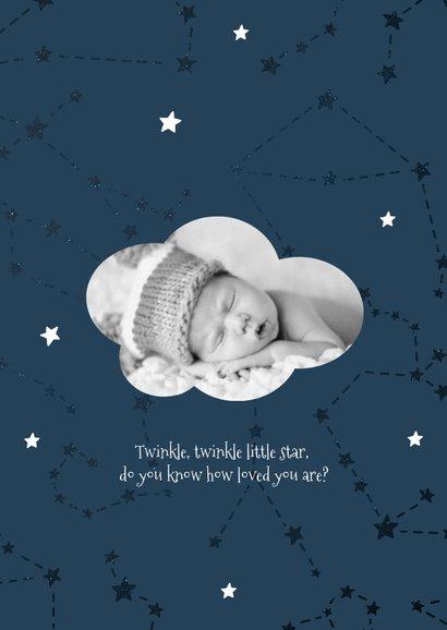 Geburtskarte Sternzeichen Fische Foto innen 2