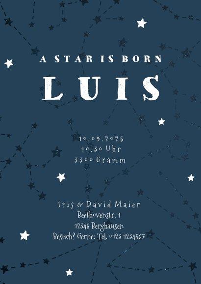 Geburtskarte Sternzeichen Jungfrau Foto innen 3
