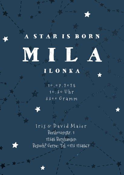 Geburtskarte Sternzeichen Krebs Foto innen 3
