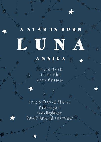 Geburtskarte Sternzeichen Löwe Foto innen 3