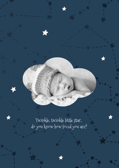 Geburtskarte Sternzeichen Schütze Foto innen 2