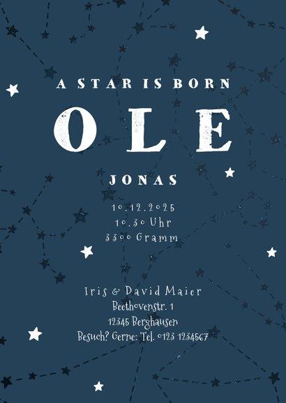 Geburtskarte Sternzeichen Schütze Foto innen 3